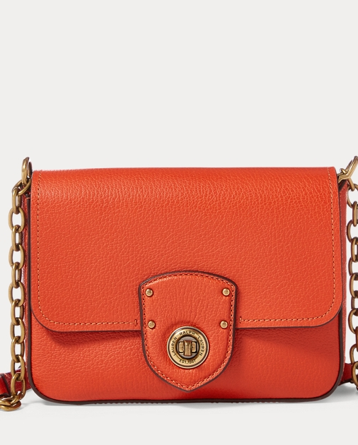 pebbled-leather-crossbody-bag by ralph-lauren