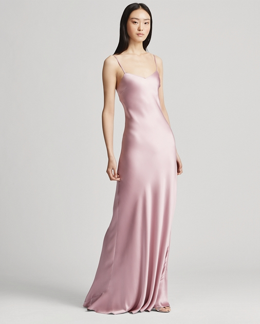 Evelyn Satin Gown by Ralph Lauren