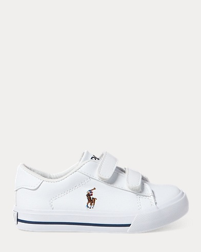 Slater Ez Three-Straps Canvas Sneakers-Ralph Lauren J 11.5 6kHPUo0TTr