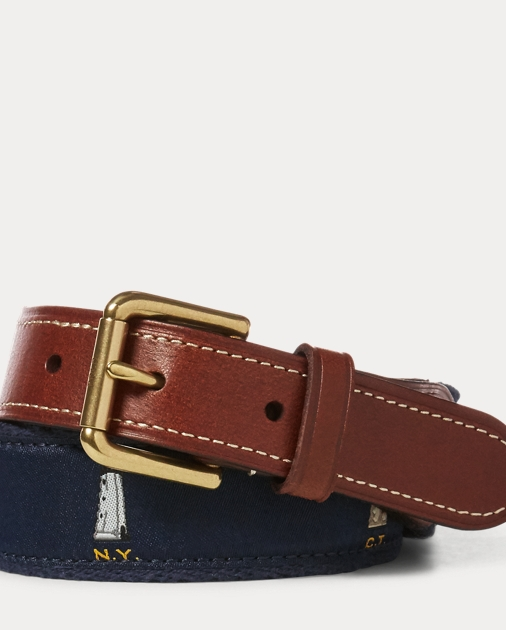 Embroidered Lighthouse Belt by Ralph Lauren