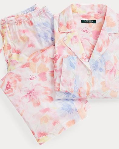 Woven Capri Pajama Set