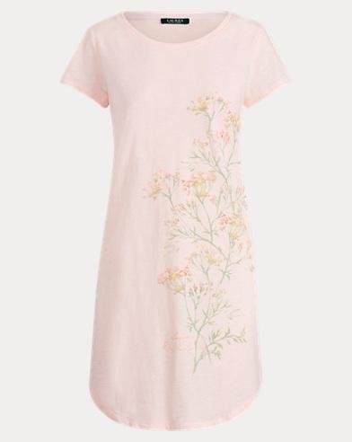 Floral-Motif Sleep Tee