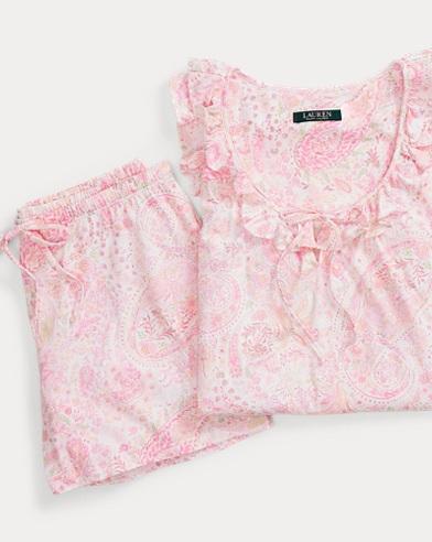 Paisley Pajama Short Set
