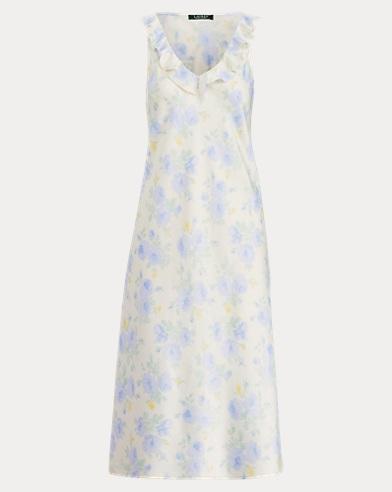 Ruffled Satin Gown