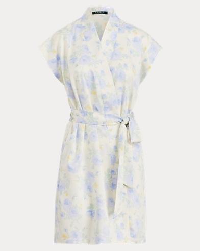 Satin Short-Sleeve Robe