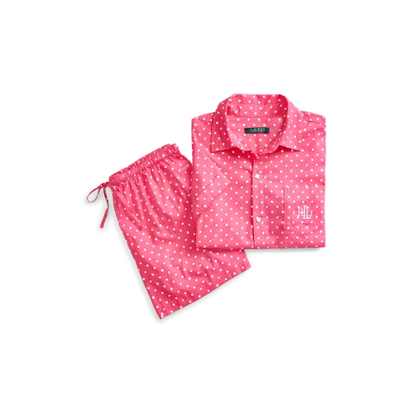 Ralph Lauren Print Sleep Set Pink Dot L