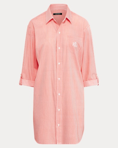 Cotton-Blend Sleep Shirt. Lauren