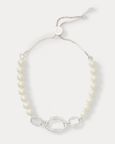 Faux-Pearl Slider Bracelet
