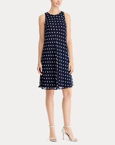 Polka-Dot Casual Dress