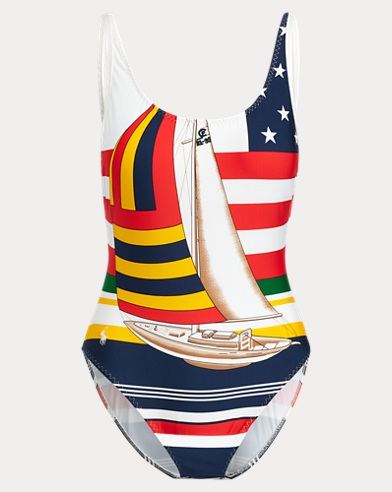 Sailboat One-Piece Swimsuit