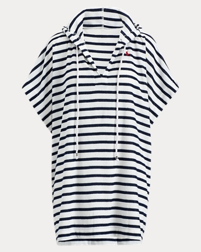 Striped Hooded Cover-Up