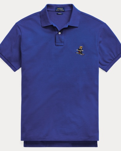 Custom Slim Fit Bear Mesh Polo