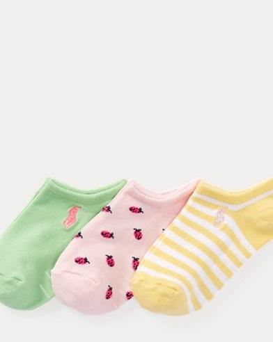 Ladybug Ankle Sock 3-Pack