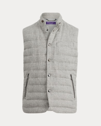 Quilted Wool-Blend Down Vest