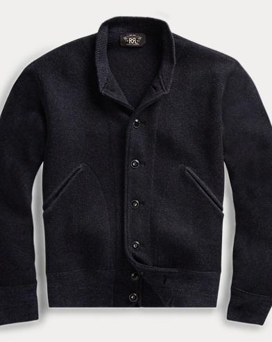 Cotton-Wool Baseball Cardigan