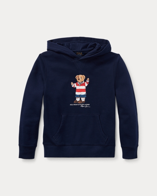 Rugby Bear Fleece Hoodie by Ralph Lauren