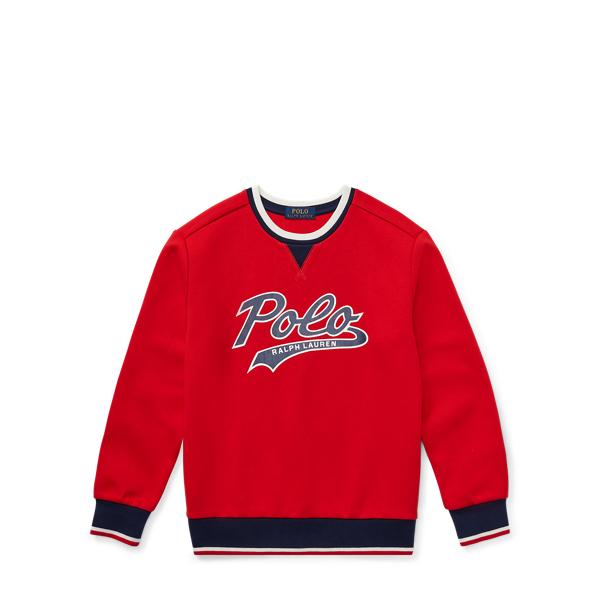 Ralph Lauren Double-Knit Graphic Sweatshirt Valor Red S