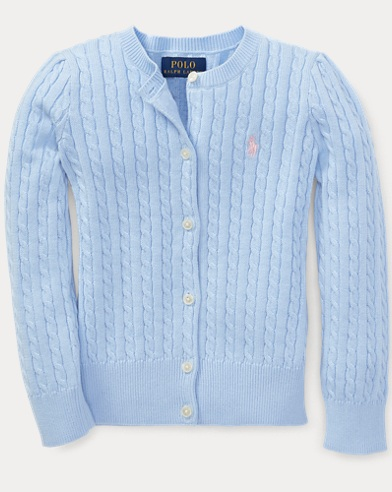 Cable-Knit Cotton Cardigan
