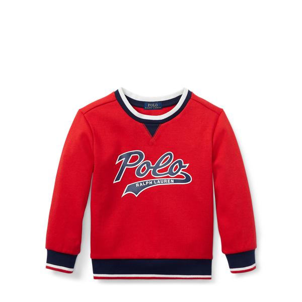Ralph Lauren Double-Knit Graphic Sweatshirt Valor Red 3T