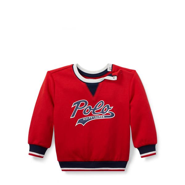 Ralph Lauren Double-Knit Graphic Sweatshirt Valor Red 3M