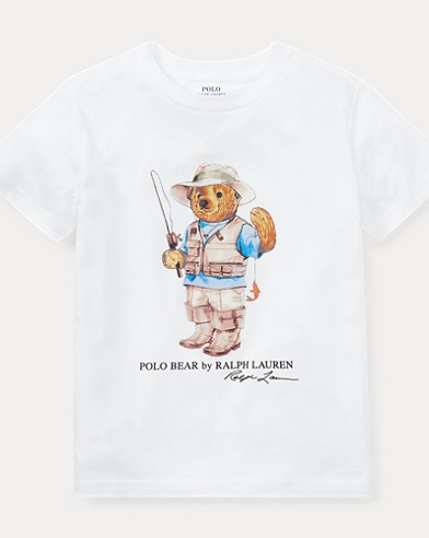 Little Kid Fishing Bear Shirt