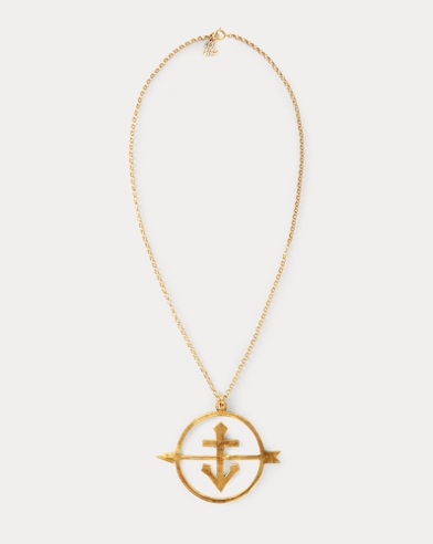 Gold-Plated Anchor Necklace