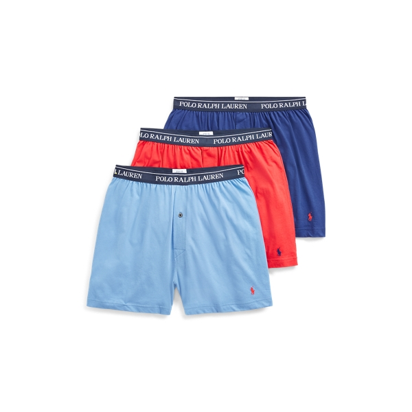Ralph Lauren Cotton Boxer 3-Pack Gray Blue M