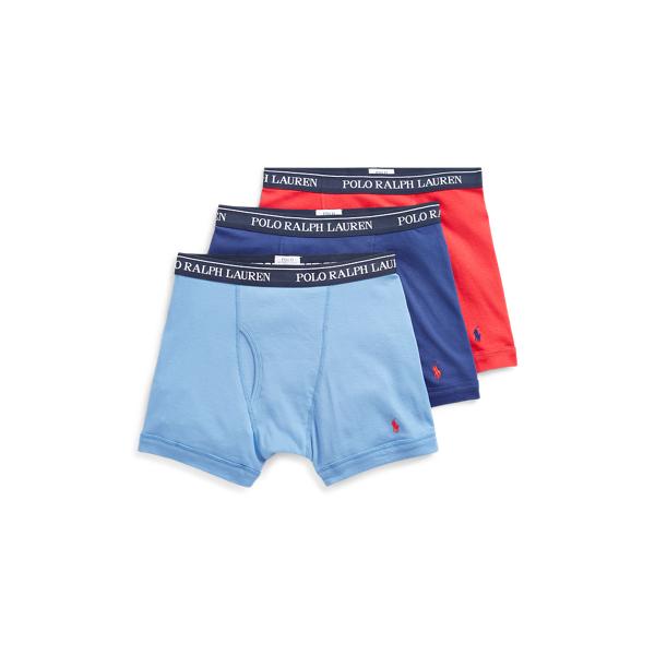 Ralph Lauren Cotton Boxer Brief 3-Pack Multi L