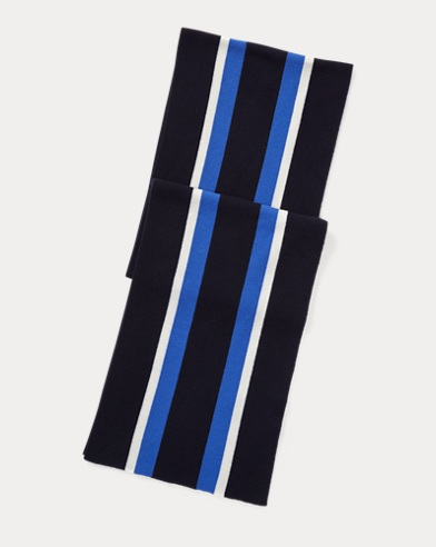 Cricket-Stripe Cashmere Scarf