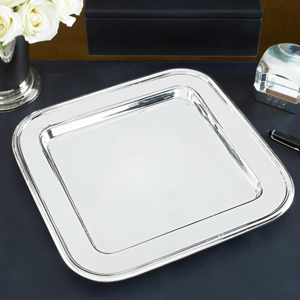 Ralph Lauren Durban Square Tray Silver One Size