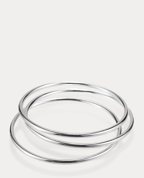 Silver-Plated Bangle Set