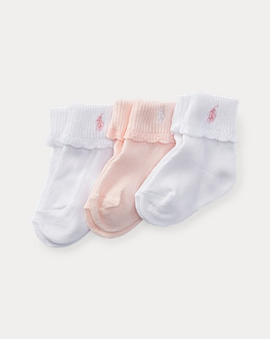 Scalloped Cuffed Sock 3-Pack