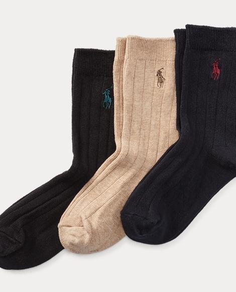 Ribbed Dress Socks 3-Pack