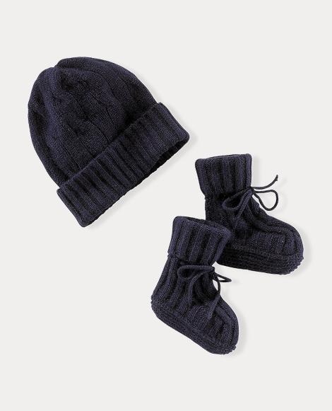 Cashmere Hat & Booties Set