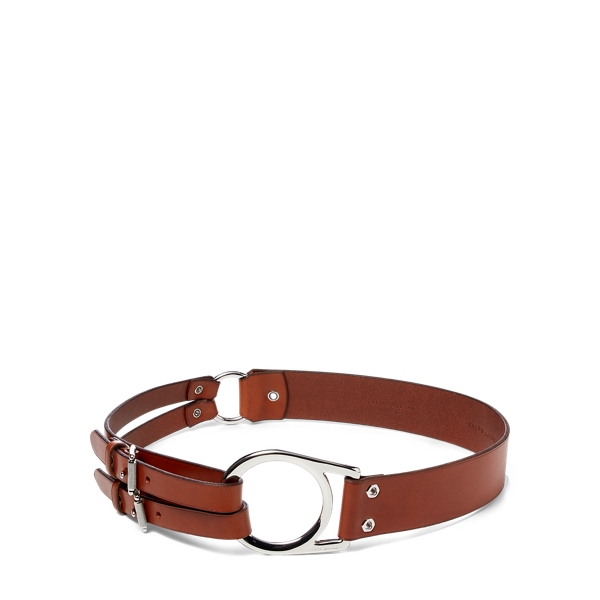 Ralph Lauren Leather Tri-Strap Belt Tan S