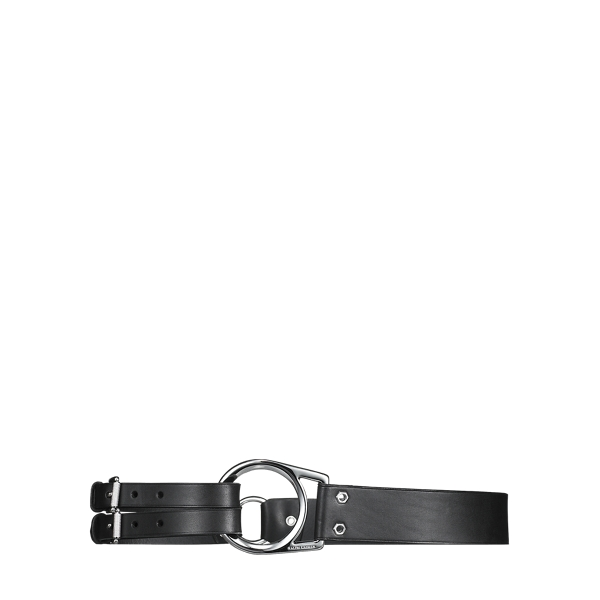 Ralph Lauren Leather Tri-Strap Belt Black S