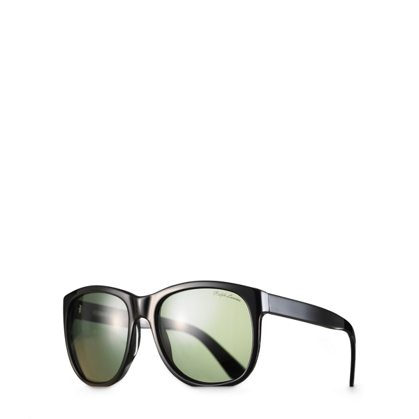 Ralph Lauren Super Ricky Sunglasses Black/Green One Size