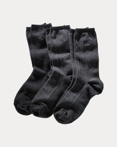 Patterned Trouser Sock 3-Pack