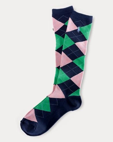Argyle Knee-High Socks