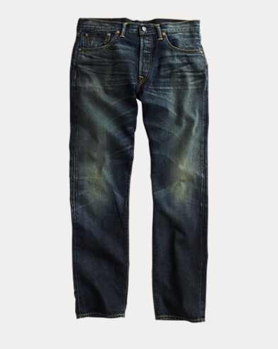 Low Straight Dark-Wash Denim