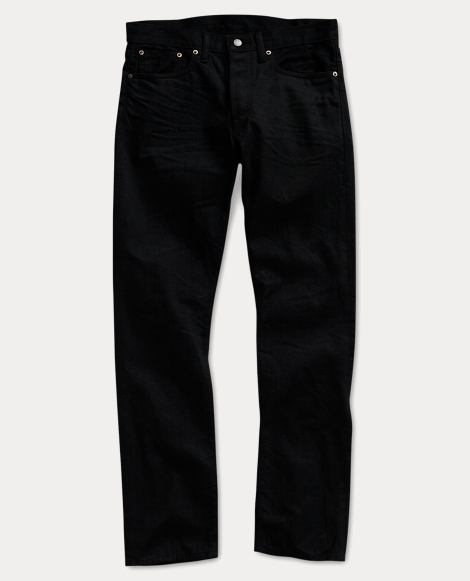 Slim Fit Black-Wash Denim