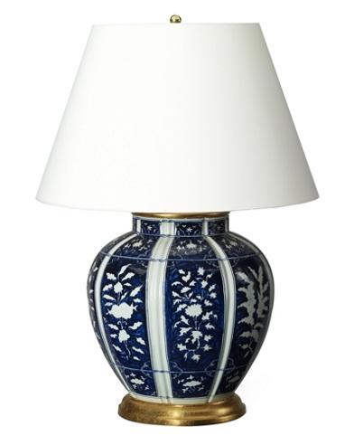 Medeline Floral Porcelain Lamp