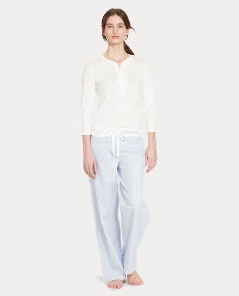 Cotton Poplin Pajama Pant