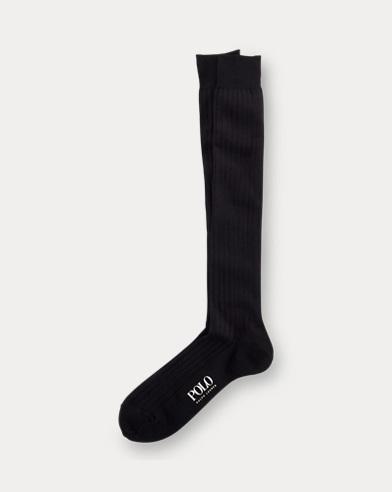 Solid Rib Over the Calf Socks