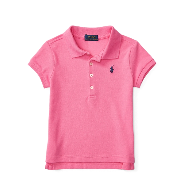 Ralph Lauren Short Sleeve Cotton Mesh Polo Maui Pink 5