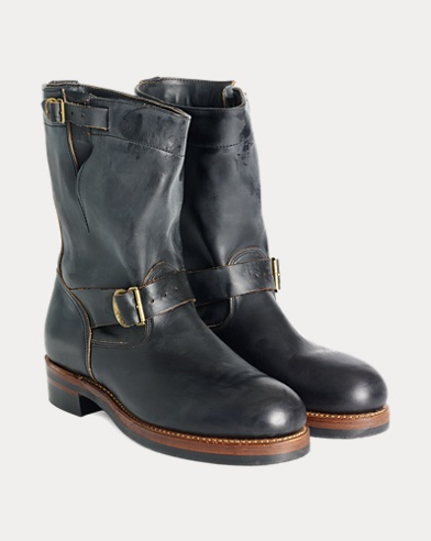 Leather Engineer Boot