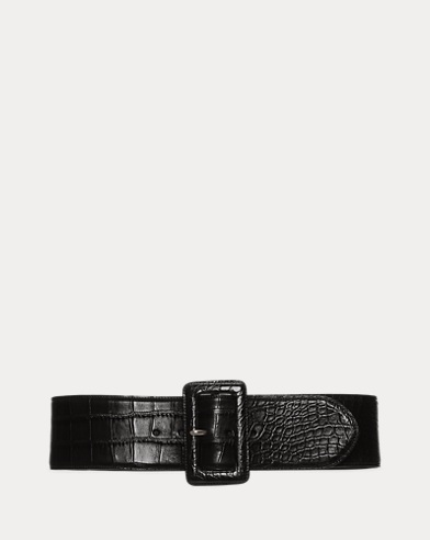 Alligator Trench-Buckle Belt
