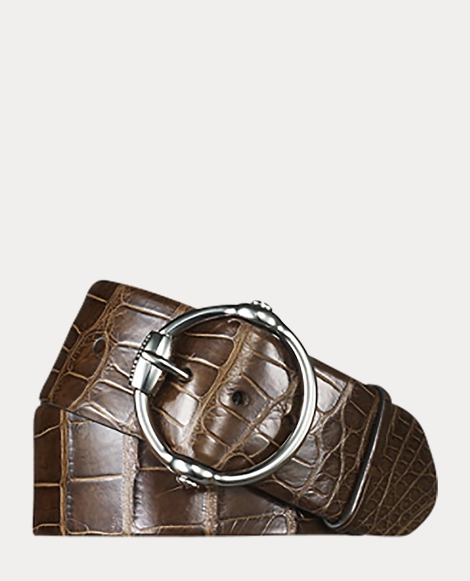 Alligator Equestrian Bit Belt