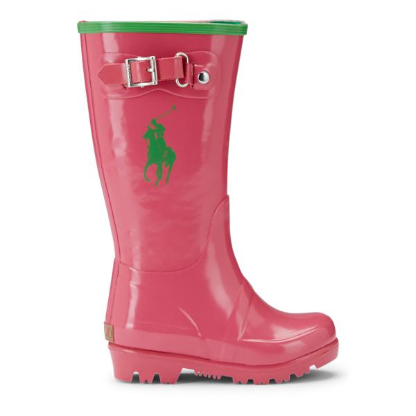 Ralph Lauren Ralph Rain Boot Pink/Green 4