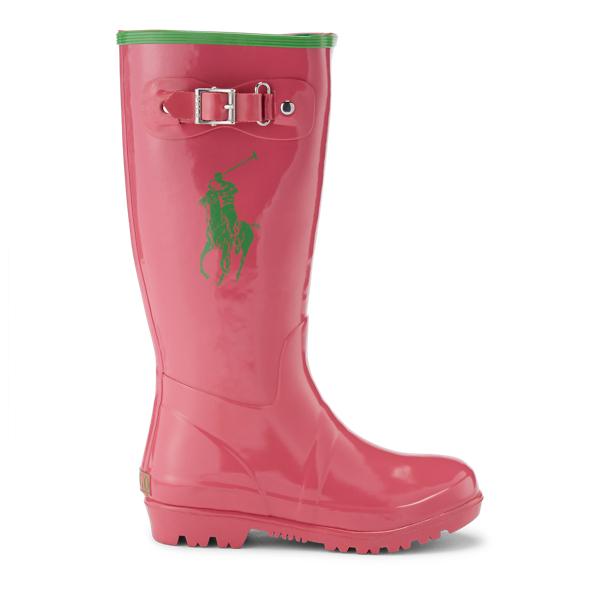 Ralph Lauren Ralph Rain Boot Pink/Green 13